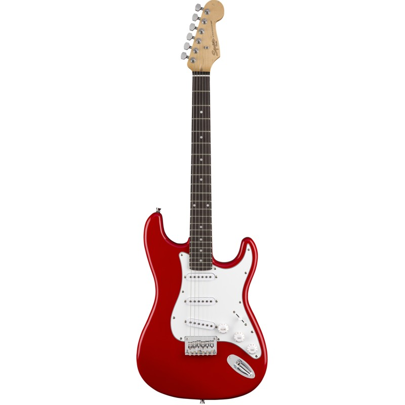 FENDER SQUIER MM STRATOCASTER HARD TAIL RED - электрогитара типа СТРАТОКАСТЕР
